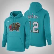 Memphis Grizzlies Ja Morant Hardwood Classiques Teal 2020 Season Sweat à capuche