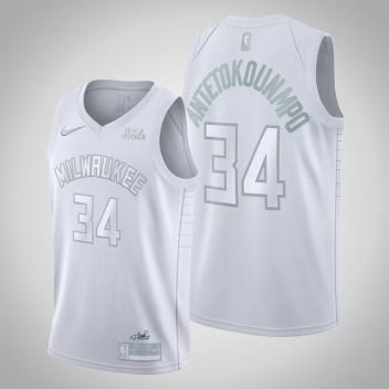Milwaukee Bucks Giannis Antetokounmpo MVP Blanc Swingman Maillot