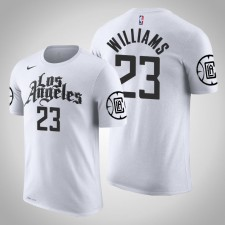 T-Chemise Los Angeles Clippers Lou Williams City Blanc 2020 Saison Nom & Nombre