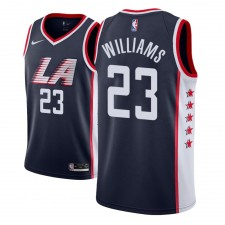 Maillot NBA 2018-19 Lou Williams Los Angeles Clippers 23 City Edition Homme Bleu Marine