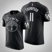 Golden State Warriors Klay Thompson City Noir 2020 Nom de saison - Numéro T-Chemise
