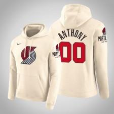 Portland Trail Blazers Carmelo Anthony City Crème 2020 Saison Pull Capuche