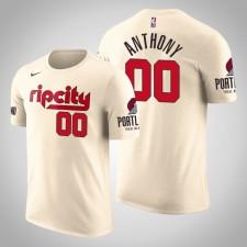 Portland Trail Blazers Carmelo Anthony City Cream 2020 Nom de saison - Numéro T-Chemise