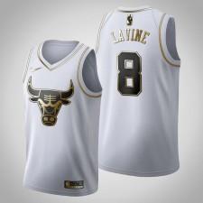 Chicago Bulls Zach LaVine Golden Édition Maillot blanc