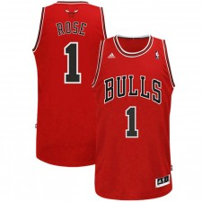 Maillot adidas Derrick Rose Chicago Bulls Rouge Swingman Road First Of Quality