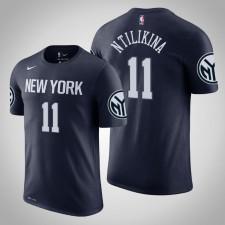 New York Knicks Frank Ntilikina City Navy 2020 Nom de saison - Numéro T-Shirt