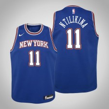 Enfants Frank Ntilikina New York Knicks Déclaration Royal 2020 Saison Maillot