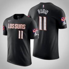 Phoenix Suns Ricky Rubio City Black 2020 Nom de saison - Numéro T-Chemise