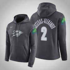 Oklahoma City Thunder Shai Gilgeous-Alexander City Anthracite 2020 Tirer Pull Capuche