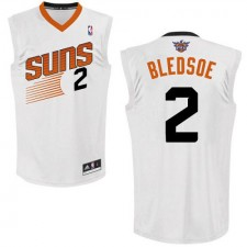 NBA Eric Bledsoe Authentic Men's White Jersey - Adidas Phoenix Suns &2 Home