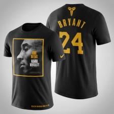 Les Lakers de Los Angeles Kobe Bryant Le T-Chemise noir Mamba Mamba Mentality noir