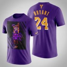 Les Lakers de Los Angeles Kobe Bryant le T-Chemise Noir Mamba