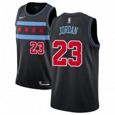 Nike Chicago Bulls Swingman Noir Michael Jordan 2018/19 Maillot - Ville Édition - Hommes