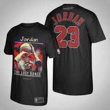 Les Bulls de Chicago Michael Jordan le T-Shirt noir du MJ