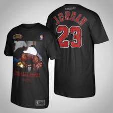 Hommes Chicago Bulls Michael Jordan Finals Champs photo avec Best Mom Noir T-Chemise