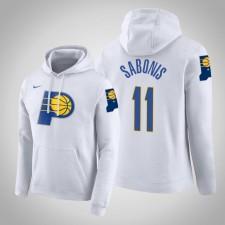 Indiana Pacers Domantas Sabonis City Blanc 2020 Season Pull Capuche