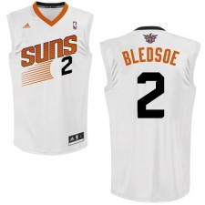 NBA Eric Bledsoe Swingman Men's White Jersey - Adidas Phoenix Suns &2 Home