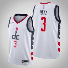 Wizards 2019-2020 Bradley Beal Blanc Ville Maillot