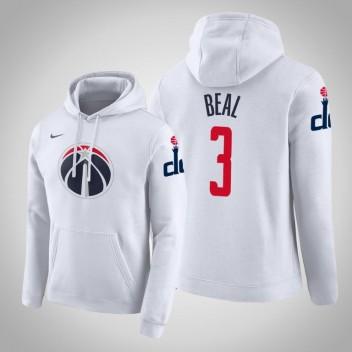 Washington Wizards Bradley Beal Ville Blanc 2020 Saison Pull Hoodie