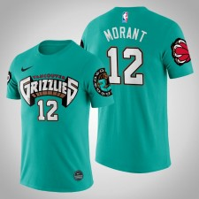 Grizzlies Ja Morant Teal 25th Season Vancouver Throwbacks Chemise