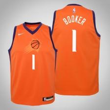 Enfants Devin Booker Phoenix Suns Déclaration Orange 2020 Saison Maillot