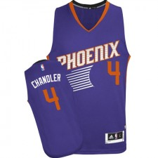 NBA Tyson Chandler Authentic Men's Purple Jersey - Adidas Phoenix Suns &4 Road