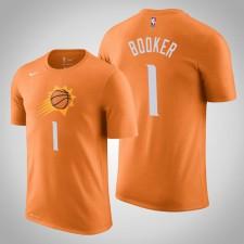 Phoenix Suns Devin Booker Déclaration Orange 2020 Nom de la saison - Numéro T-Chemise
