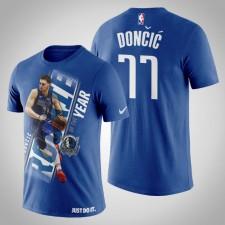 Dallas Mavericks Luka Doncic Royal NBA Tee-shirt recrue de l'année