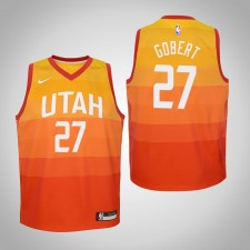 Enfants Rudy Gobert Utah Jazz City Edition Rouge Maillot