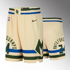 Milwaukee Bucks Giannis Antetokounmpo 2020 Ville Shorts - Crème