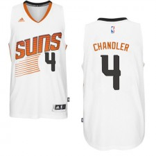 NBA Tyson Chandler Authentic Men's White Jersey - Adidas Phoenix Suns &4 Home