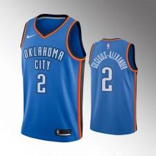 Oklahoma City Thunder Shai Gilgeous-Alexander 2019-20 Icône Maillot - Bleu