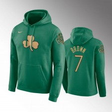 Hommes Boston Celtics Jaylen Brown Kelly Vert Chandails Capuche - Ville
