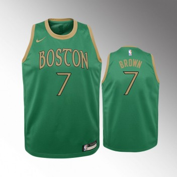 Enfants Boston Celtics Jaylen Brown Ville Kelly Vert Mailot