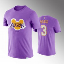 Los Angeles Lakers Anthony Davis Disney X NBA Mascotte Crossover Violet T-Chemise