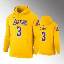 Les Lakers de Los Angeles hommes Anthony Davis Or Chandails Capuche - Icône