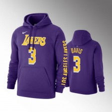 Hommes Los Angeles Lakers Anthony Davis Violet Chandails Capuche - Déclaration