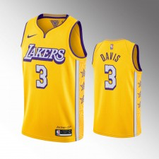 Hommes Los Angeles Lakers Anthony Davis Or Maillot - Ville