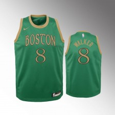 Enfants Boston Celtics Kemba Walker City Vert Maillot