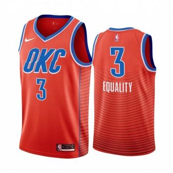 Hommes Oklahoma City Thunder Chris Paul Déclaration Orange Égalité Maillot