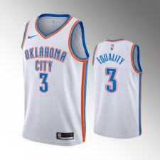 Hommes Oklahoma City Thunder Chris Paul Association Blanc Equality Maillot