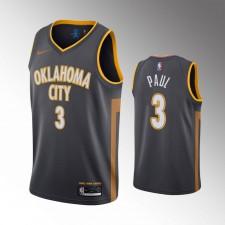 Hommes Oklahoma City Thunder Chris Paul Charcoal Maillot - Ville