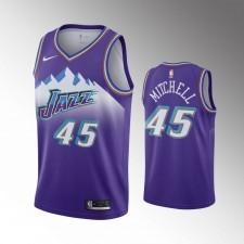 Utah Jazz Donovan Mitchell années 90 Hardwood Classiques Violet Maillot