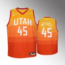 Enfants 2018-19 Utah Jazz Donovan Mitchell City Rouge Mailot