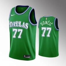 Hommes Dallas Mavericks Luka Doncic 2020 Classic Édition Maillot Vert
