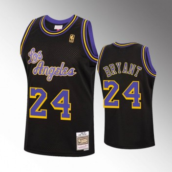 Hommes Los Angeles Lakers 2006-97 Kobe Bryant Reload Noir Hardwood Classiques Maillot