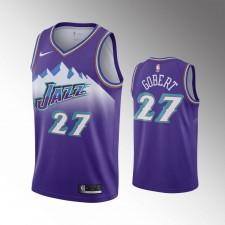Utah Jazz Rudy Gobert 90s Hardwood Classiques Violet Maillot