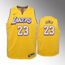 Enfants Los Angeles Lakers LeBron James City Or Maillot