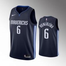 Hommes Dallas Mavericks Kristaps Porzingis Déclaration Navy Jordan Brand Maillot