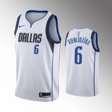 Hommes Dallas Mavericks Kristaps Porzingis Association Blanc Vienlidziba Maillot
